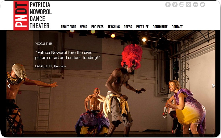 WordPress Custom Theme - Patricia Noworol Dance Theater